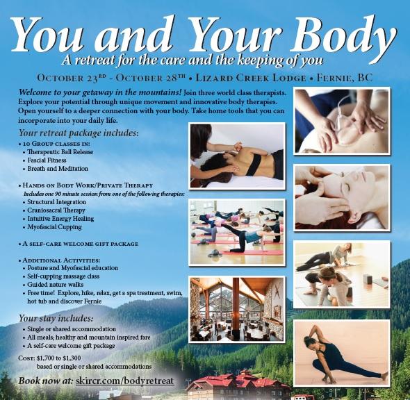 You & Your Body Wellness Retreat - Lizard Creek Lodge